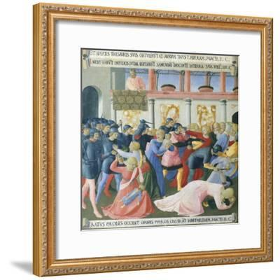 Inset Depicting the Massacre of the Innocents, Panel from the Armadio Degli Argenti--Framed Giclee Print