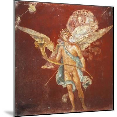 Fresco Depicting Winged Genius Carrying Woman on His Shoulders, from House of Naviglio--Mounted Giclee Print