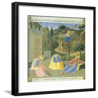 Inset Depicting Praying in Garden, Panel from the Armadio Degli Argenti--Framed Giclee Print