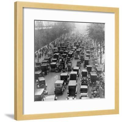 The Great Trek to Work During the General Strike: the Embankment--Framed Photographic Print