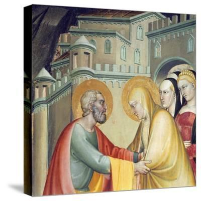Meeting with Saint Anne--Stretched Canvas Print