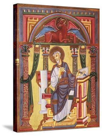Saint Luke the Evangelist, Miniature 1045 from Caesareus Upsaliensis Code, Latin Manuscript--Stretched Canvas Print