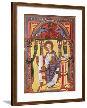 Saint Luke the Evangelist, Miniature 1045 from Caesareus Upsaliensis Code, Latin Manuscript--Framed Giclee Print