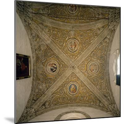 Vault of Sacristy and Nave of Chapel of Cathedral of Mantua--Mounted Photographic Print