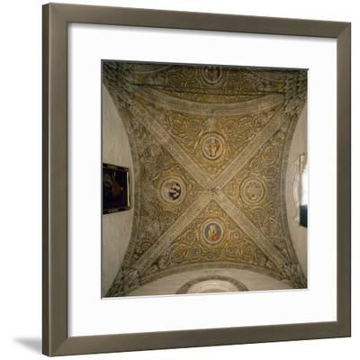 Vault of Sacristy and Nave of Chapel of Cathedral of Mantua--Framed Photographic Print