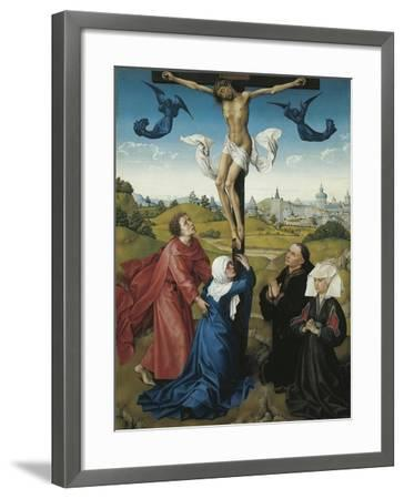 Austria, Vienna, Triptych of the Crucifixion, 1440, Detail the Crucifixion, Central Panel--Framed Giclee Print