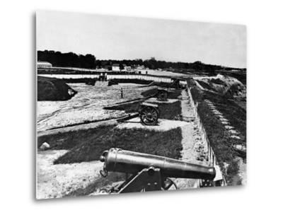 View of Artillery in Fort Carroll Outside Washington, D. C., C.1865--Metal Print
