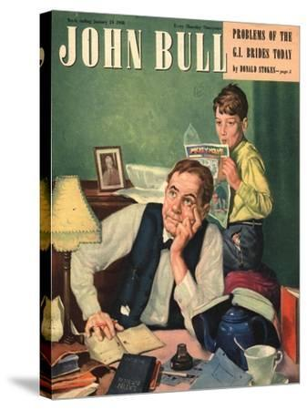 Front Cover of 'John Bull', January 1948--Stretched Canvas Print