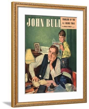 Front Cover of 'John Bull', January 1948--Framed Giclee Print