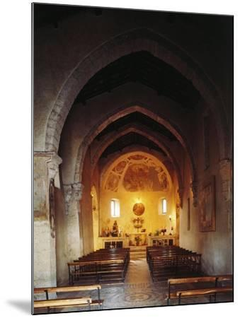 Interior of the Church of Saint Peter, Anticoli Corrado, Italy, 11th Century--Mounted Giclee Print