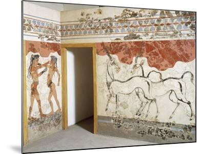 Greek Civilizationes Depicting Antelopes and Young Boxers, from Akrotiri, Thera, Santorini, Greece--Mounted Giclee Print