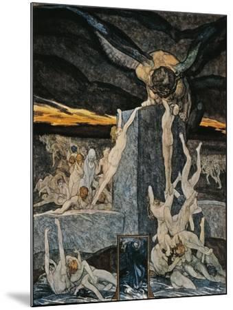 Austria, Vienna, Illustration of Dante Alighieri's Divine Comedy--Mounted Giclee Print