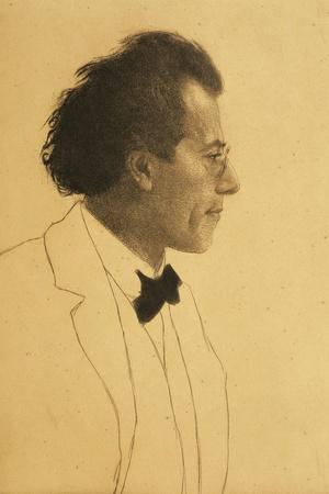 Austria, Vienna, Portrait of Composer Gustav Mahler--Stretched Canvas Print