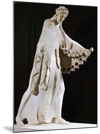 Marble Statue of Athena from East Pediment of Temple of Athena Polis Depicting Gigantomachy--Mounted Giclee Print