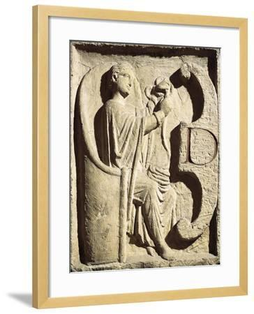 Relief Depicting One of the Parcae Spinning the Thread of Life--Framed Giclee Print