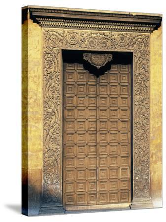 Marble Portal of Basilica of Sant'Andrea, Mantua--Stretched Canvas Print