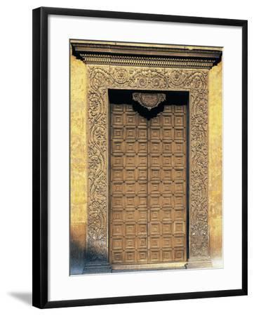 Marble Portal of Basilica of Sant'Andrea, Mantua--Framed Photographic Print