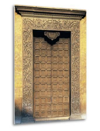 Marble Portal of Basilica of Sant'Andrea, Mantua--Metal Print
