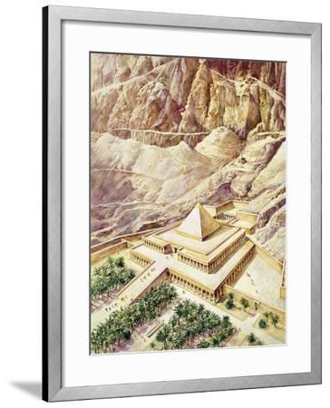 Ancient Egypt, Thebes, Deir El-Bahri, Reconstructed Temple of Hatshepsut--Framed Giclee Print