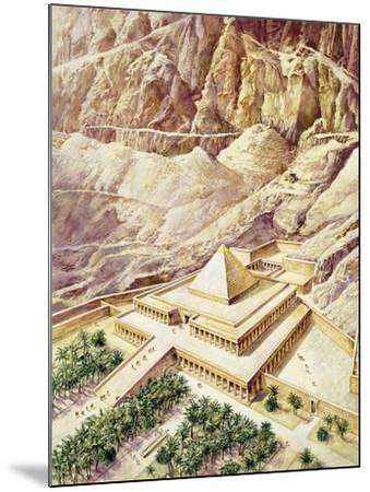 Ancient Egypt, Thebes, Deir El-Bahri, Reconstructed Temple of Hatshepsut--Mounted Giclee Print