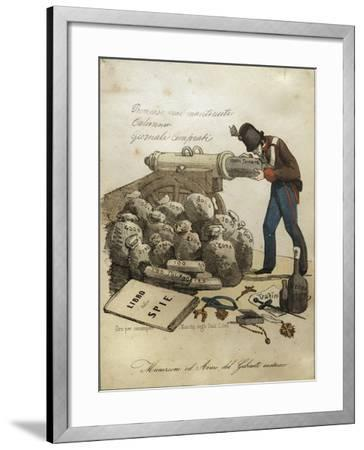 Weapons and Ammunitions of Austrian Ministry, Anti-Austrian Venetian Satire--Framed Giclee Print