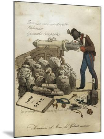 Weapons and Ammunitions of Austrian Ministry, Anti-Austrian Venetian Satire--Mounted Giclee Print