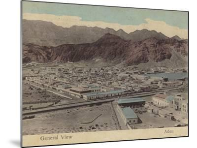 General View of Aden--Mounted Photographic Print