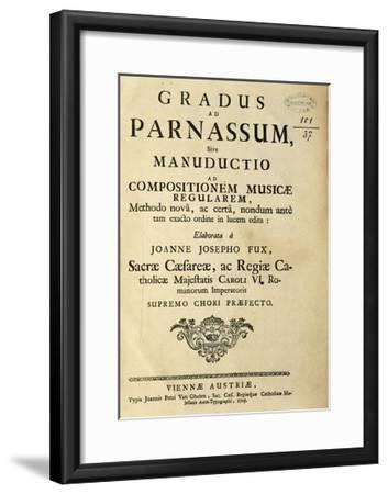 Austria, Johann Joseph Fux, Frontispiece of Gradus Ad Parnassum, 1725--Framed Giclee Print