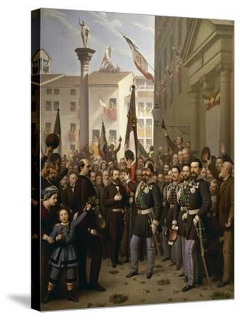 King Victor Emmanuel II in Vicenza--Stretched Canvas Print