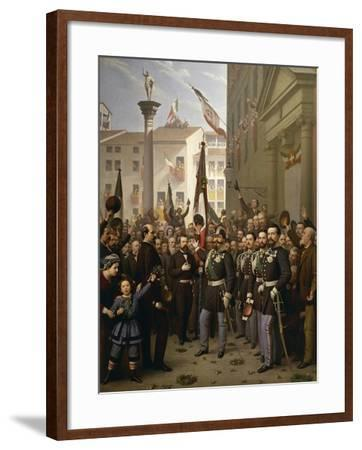 King Victor Emmanuel II in Vicenza--Framed Giclee Print