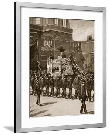 Funeral of President Carnot: the Procession Leaving the Elysee--Framed Giclee Print