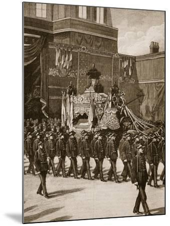 Funeral of President Carnot: the Procession Leaving the Elysee--Mounted Giclee Print