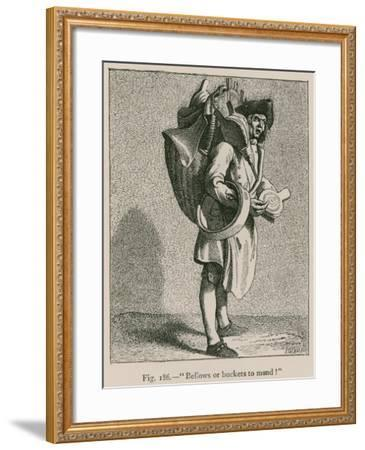 """Bellows or Buckets to Mond!""--Framed Giclee Print"
