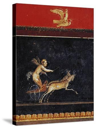 Frieze with Cupid, House of Vettii, Pompeii--Stretched Canvas Print