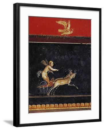Frieze with Cupid, House of Vettii, Pompeii--Framed Photographic Print