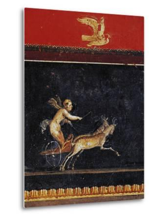 Frieze with Cupid, House of Vettii, Pompeii--Metal Print