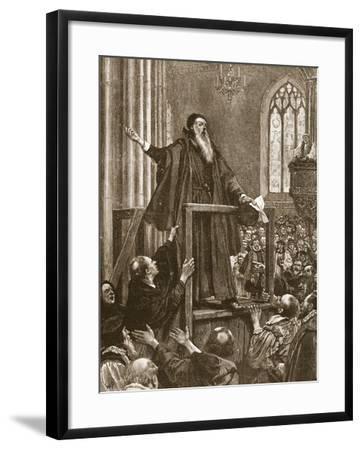 Cranmer's Last Testimony--Framed Giclee Print