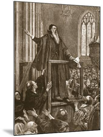 Cranmer's Last Testimony--Mounted Giclee Print
