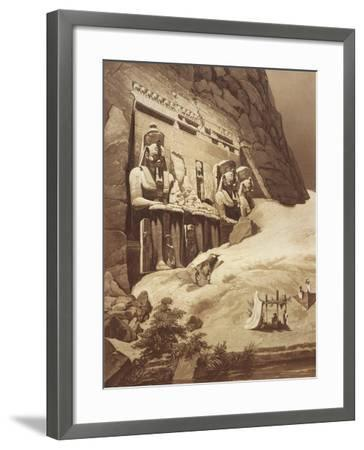 The Great Temple, Panorama D'Egypte Et De Nubia Abu Simbel--Framed Giclee Print