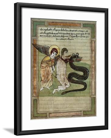 The Angel Captures the Dragon and Satan for 1000 Years--Framed Giclee Print