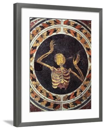 Skeleton Pleading, Detail from Marble Floor, Cornaro Chapel, Church of Santa Maria Della Vittoria--Framed Giclee Print
