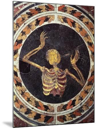 Skeleton Pleading, Detail from Marble Floor, Cornaro Chapel, Church of Santa Maria Della Vittoria--Mounted Giclee Print