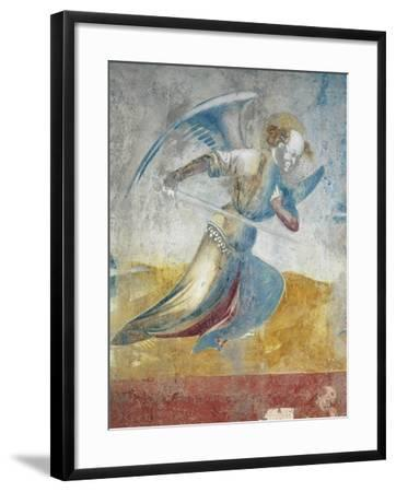Figure of Angel, Detail of Last Judgment of 15th Century--Framed Giclee Print