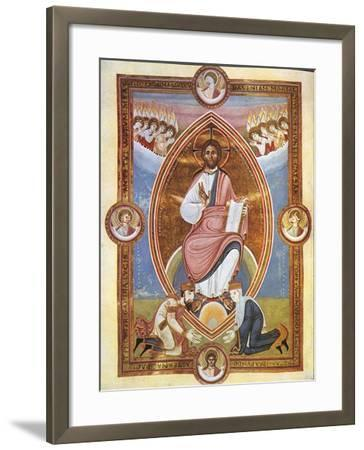 Miniature Depicting Blessing Christ Within an Almond-Shaped Aureola--Framed Giclee Print