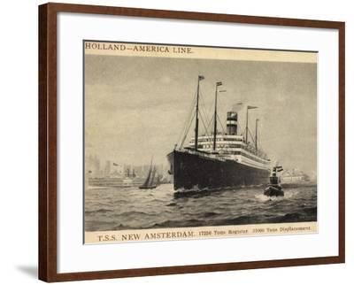 Künstler Pansing, Hapag,T.S.S. New Amsterdam, Dampfer--Framed Giclee Print