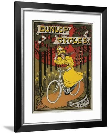 Dunlop Cycles Catalogue. Front Cover, 1897--Framed Giclee Print