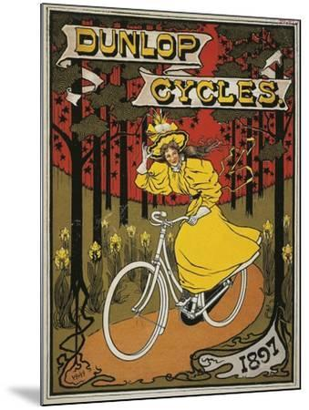 Dunlop Cycles Catalogue. Front Cover, 1897--Mounted Giclee Print