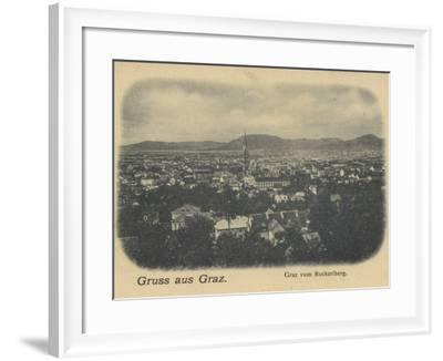 Postcard Depicting a General View of Graz--Framed Photographic Print