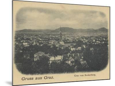 Postcard Depicting a General View of Graz--Mounted Photographic Print
