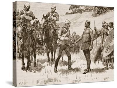 Surrender of Cetewayo, 1880, Illustration from 'Cassell's Illustrated History of England'--Stretched Canvas Print